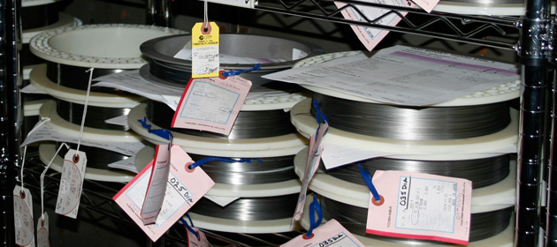 Tungsten wire ready for shipment
